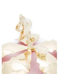 Rosie Assoulin - Red Oversized Enamel Flower Earrings - Lyst