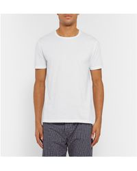 Derek Rose - White Turner Slim-fit Cotton-jersey T-shirt for Men - Lyst