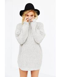 BDG - Gray Shaker Turtleneck Sweater - Lyst