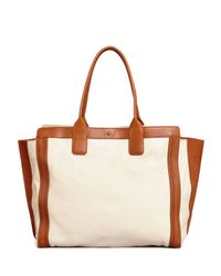Chloé - White Alison East-West Colorblock Tote Bag - Lyst