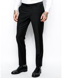 Noose And Monkey - Black Suit Pants In Skinny Fit for Men - Lyst