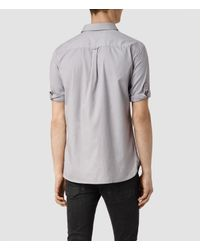 AllSaints - Purple Redondo Half Sleeved Shirt for Men - Lyst