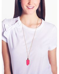kate spade new york - Pink Popsicle Pendant - Lyst
