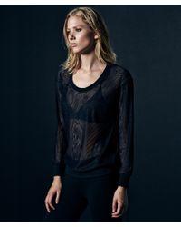 Lanston | Black Mesh Sweatshirt | Lyst