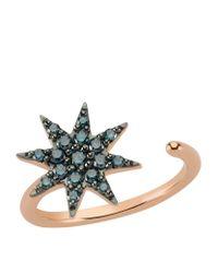 Bee Goddess - Blue Diamond Ishtar Star Ring - Lyst