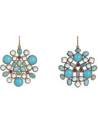 Judy Geib - Metallic Multi Gemstone, Gold & Silver Kaleidoscope Earrings - Lyst