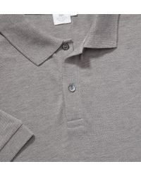 Sunspel | Gray Men's Pima Cotton Pique Polo Shirt for Men | Lyst