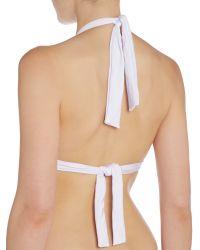 Biba | White Goddess Moulded Halter Bikini Top | Lyst