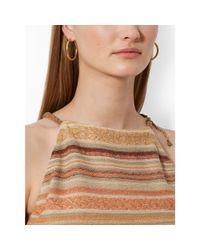 Lauren by Ralph Lauren | Brown Serape-Striped Halter Top | Lyst