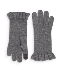 Saks Fifth Avenue | Gray Tech Wool-blend Gloves | Lyst