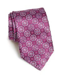 David Donahue | Brown Medallion Silk Tie for Men | Lyst