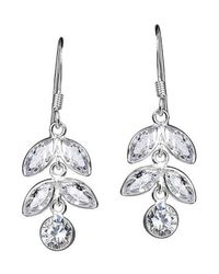 Aeravida | Metallic Icycles Drop Marquise Cz Dangle Sterling Silver Earrings | Lyst