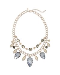 INC International Concepts | Pink Rose Gold-tone Black Diamond Crystal Two-row Necklace | Lyst