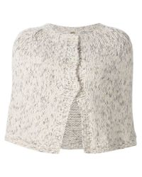 Dosa - Natural Cape Cardigan - Lyst