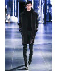 Saint Laurent - Blue Wool Coat for Men - Lyst
