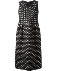 Giambattista Valli | - Crocheted-lace And Leopard Devoré-canvas Mini Dress - Black | Lyst