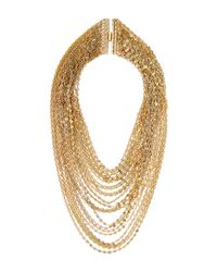 DANNIJO - Metallic Gold-plated Multi Strand Laurent Necklace - Lyst