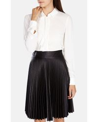 Karen Millen | White Soft Fluid Shirt | Lyst