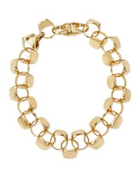 Lulu Frost - Metallic Brass Signet Necklace - Lyst