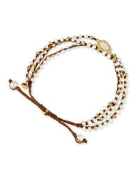 Tai | White 3-strand Mother-of-pearl Beaded Bracelet | Lyst