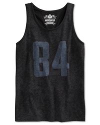 American Rag | Black Graphic Mesh Floral Tank for Men | Lyst