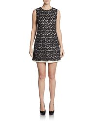 Shoshanna | Black Karen Florallace Shift Dress | Lyst