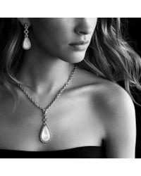 David Yurman - Metallic Anjou Necklace with Moon Quartz and Diamonds - Lyst
