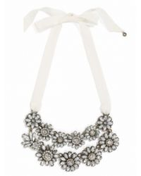 BaubleBar - White Double Ribbon Bouquet Strands - Lyst