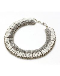 Nakamol | Multicolor Secretorial Necklace-white/grey | Lyst