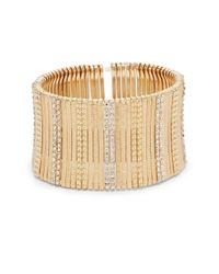 Saks Fifth Avenue - Metallic Textured Bar Stretch Bracelet/gold - Lyst