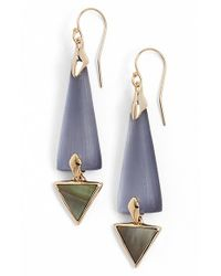 Alexis Bittar | Blue 'lucite' Elongated Drop Earrings - Light Navy | Lyst