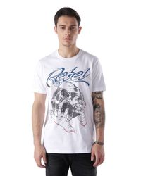 DIESEL | White T-Sha Graphic T-Shirt for Men | Lyst