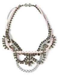 Tom Binns - Metallic Crystal and Pearl Tie Necklace - Lyst