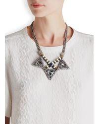 Nocturne - Metallic Lisha Crystal-Embellished Necklace - Lyst