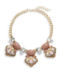 Saks Fifth Avenue | Pink Three-station Bib Necklace | Lyst