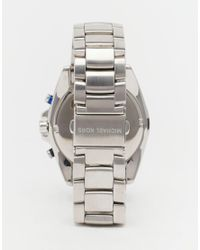 Michael Kors | Metallic Jet Master Watch In Stainless Steel Mk8462 for Men | Lyst