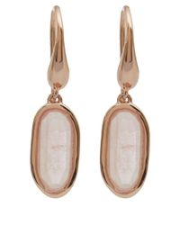 Monica Vinader - Pink Rose Gold-plated Quartz Vega Drop Earrings - Lyst