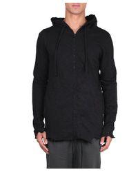 Thom Krom - Black Cotton Destroyed Sweatshirt for Men - Lyst