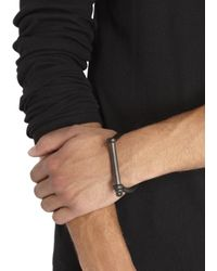 Miansai - Gray Gunmetal Screw Fastening Cuff for Men - Lyst