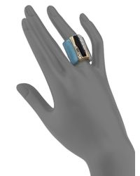 Alexis Bittar | Multicolor Sport Deco Lucite & Crystal Baguette Wide Ring | Lyst