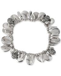 Kenneth Cole | Metallic Multi-Bead Stretch Bracelet | Lyst