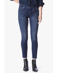 7 For All Mankind | Blue The Ankle Skinny In Bordeaux Broken Twill | Lyst