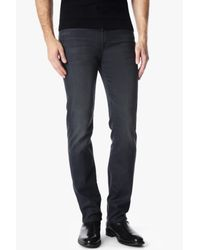 7 For All Mankind Gray Luxe Performance Slimmy Slim In Washed Sulfur for men
