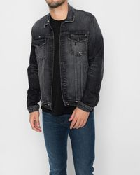 7 For All Mankind - Black Trucker Jacket In Blowout for Men - Lyst
