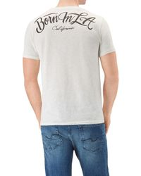 333f02bf246f 7 For All Mankind Graphic Tee Slub Moto Off White in White for Men ...