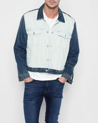 7 For All Mankind - Inside Out Trucker Jacket In Vintage Blue for Men - Lyst
