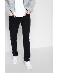 7 For All Mankind Luxe Performance Paxtyn Skinny In Nightshade Black for men