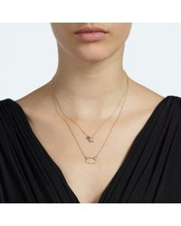 John Lewis | Metallic Star & Cloud Double Layer Crystal Necklace | Lyst