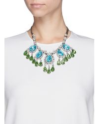 Kenneth Jay Lane - Multicolor Crystal Teardrop Station Necklace - Lyst