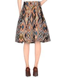 Erika Cavallini Semi Couture - Natural Knee Length Skirt - Lyst